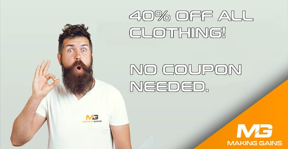 Making Gains Clothing Sale