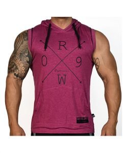Ryderwear Cross Arrow Hoodie Tank Burgundy Front